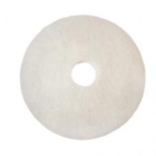 "Floor Pad White 17"" pack of 1"