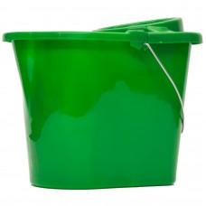 Mop Bucket & Wringer Green 12ltr