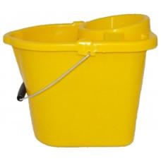 Mop Bucket & Wringer Yellow 12ltr