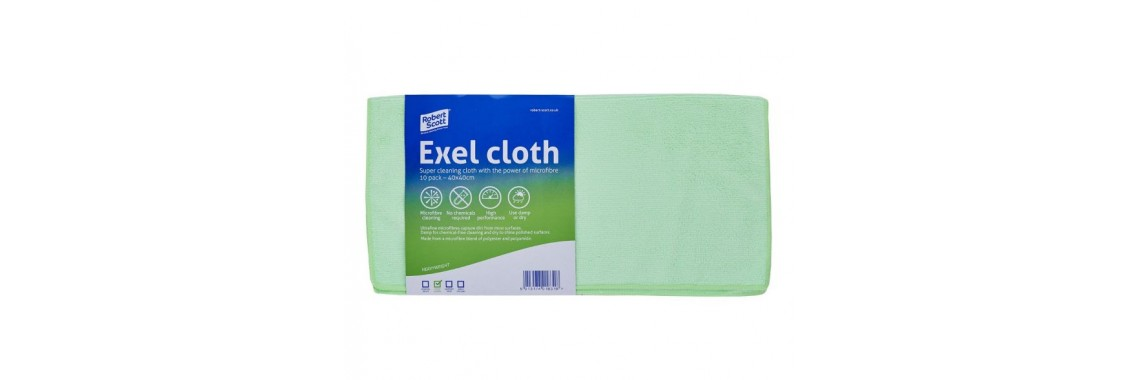 Exel Microfibre Cloth Green