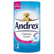 Andrex Classic White Toilet Tissue 2 Rolls