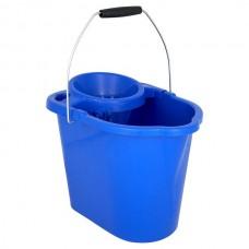 Mop Bucket & Wringer Blue 12ltr