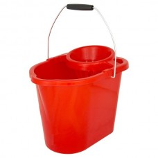 Mop Bucket & Wringer Red 12ltr