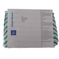 Clean Direct colour coded cleaning cloths pack of 10 green