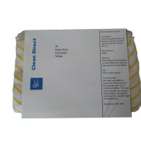 Clean Direct colour coded cleaning cloths pack of 10 yellow