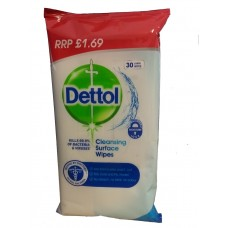 Dettol Cleansing Surface Wipes pack of 30