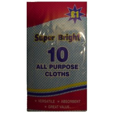 Super Bright All Purpose Cloths pack of 10