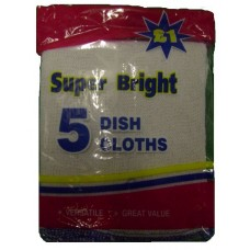 Super Bright Dish Cloths pack of 5