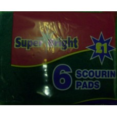 Super Bright Scouring Pads pack of 6
